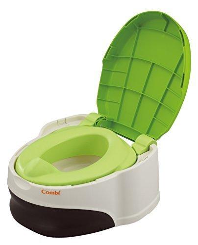 コンビ Combi トイレトレーニング ベビーレーベル 洋式おまるでステップ レーベルシャトルーズ (GR) (おまる:1歳頃~/補助便座+ステップ:1歳6ヶ月頃~対象),おまる,