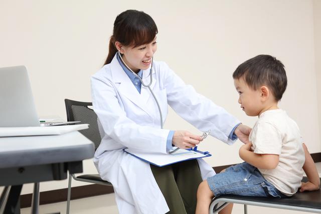 病院,蕁麻疹,子ども,