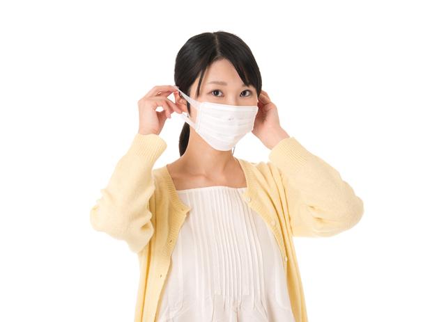 マスクをする女性,妊娠,4週,