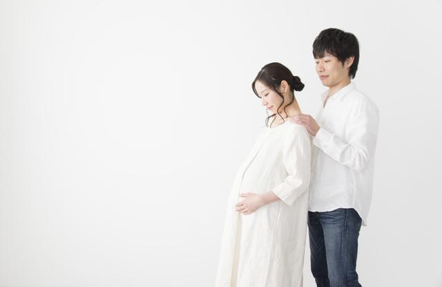 妊婦とパパ,妊娠,40週,