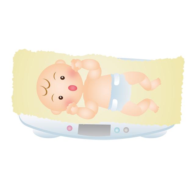 赤ちゃんの体重測定,生後,7ヶ月,赤ちゃん