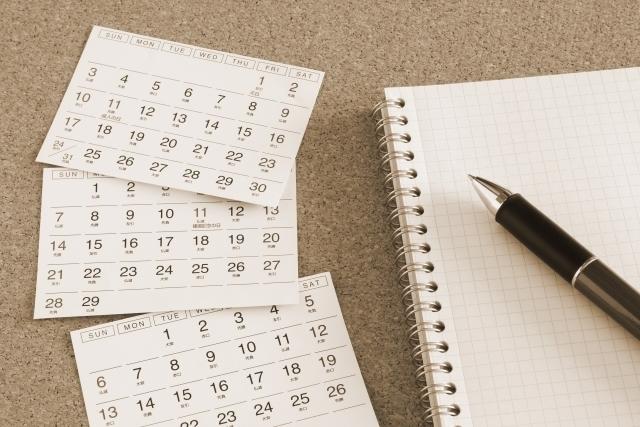 カレンダーの写真,出産予定日,計算,