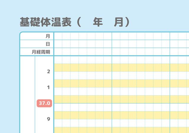 基礎体温表,妊娠,基礎体温,変化