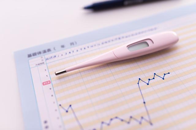 基礎体温計と表,妊娠,基礎体温,変化