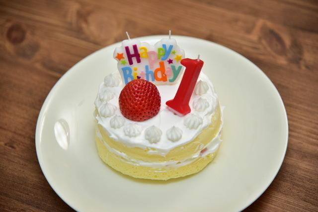 1歳ケーキ,1歳誕生日,