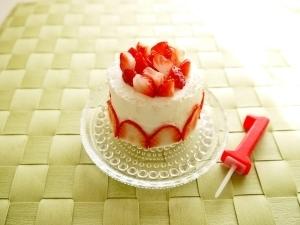 1歳のバースデーケーキ!水切りヨーグルト&食パン♪ ,1歳誕生日,