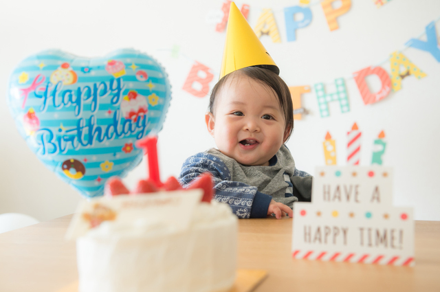 1歳のバースデーパーティー,1歳誕生日,