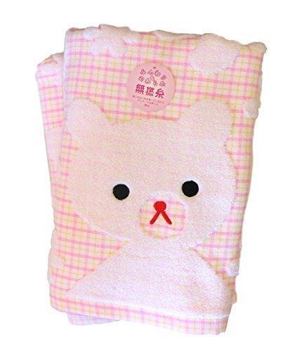 やわらか ガーゼ 無撚糸 タオルセット 敏感肌 ベビー用 赤ちゃん肌 くまさん【バスタオル2枚 セット】 (ピンク),赤ちゃん,バスタオル,