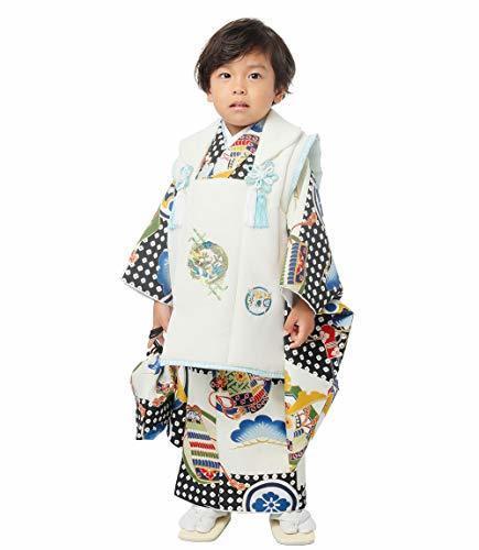 小町kids ブランド 男児 3歳 三歳 被布コート セット 男の子 着物 古典柄 (KKB-1),七五三,男の子,