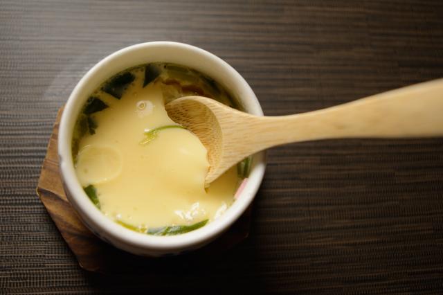 茶碗蒸しとスプーン,離乳食,茶碗蒸し,