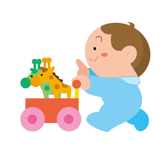 手押し車を押す赤ちゃん,手押し車,