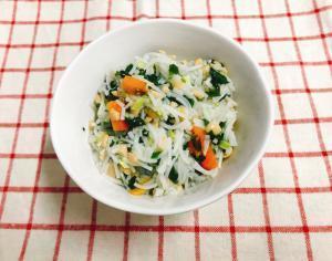 【離乳食後期】納豆と野菜の和風そうめん,10ヶ月,離乳食,