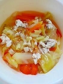 いろどり野菜とぶりのスープ(離乳食後期),離乳食,ぶり,