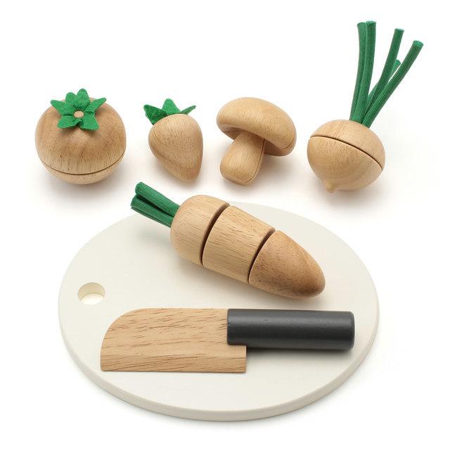 木のおままごと 食材・まな板セット 対象年齢3歳以上,おもちゃ,キッチン,