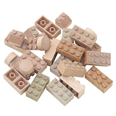 日本の木のおもちゃ_木のブロック・もくロック・小 24ピース・対象年令3歳以上,おもちゃ,キッチン,