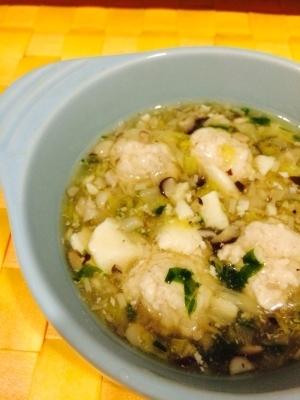 【離乳食 後期】野菜たっぷり鶏団子スープ,9ヶ月,離乳食,