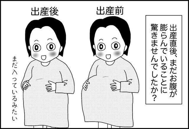 出産直後はお腹が出たまま,産後,お腹,育児