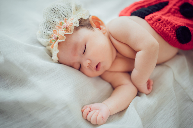 眠る赤ちゃん,名付け女の子,