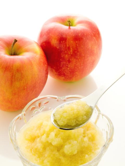 すりおろしりんご,離乳食,りんご,