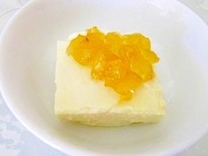 離乳食後期◎豆腐のりんごジャムかけ レシピ・作り方,離乳食,りんご,