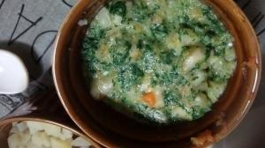 【離乳食中期】小松菜と人参のバナナミルク煮,小松菜,離乳食,