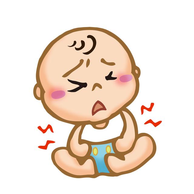 腹痛の赤ちゃん,離乳食,みかん,