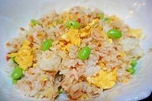 枝豆と鮭フレークのチャーハン,お弁当,ご飯,
