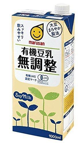 マルサン 有機豆乳無調整 1000ml×6本,離乳食,豆乳,