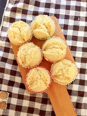 フライパンで簡単きな粉蒸しパン【離乳食】,離乳食,豆乳,