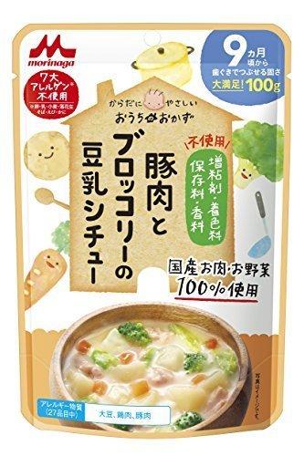 森永 おうちのおかず 豚肉とブロッコリーの豆乳シチュー 9ヶ月頃から×12袋,離乳食,豆乳,