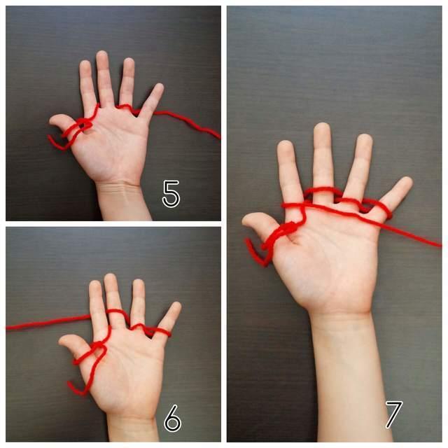 ゆびに毛糸,簡単,マフラー,指あみ