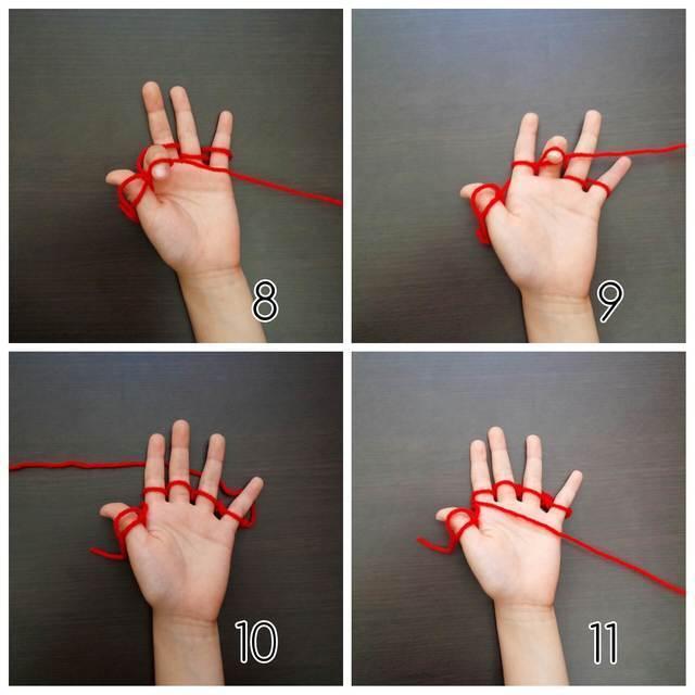 指編み、編み方,簡単,マフラー,指あみ