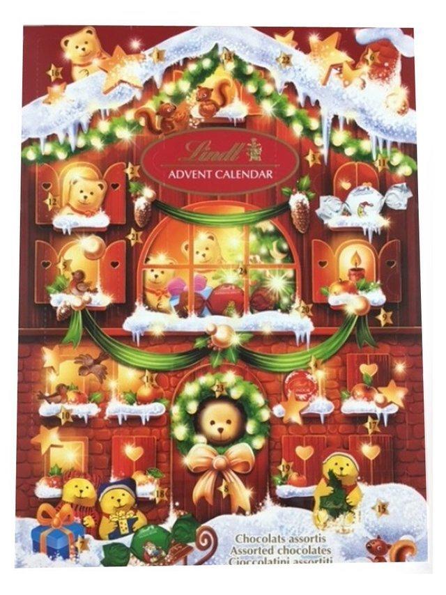 リンツ クリスマス テディアドベントカレンダー 172g,クリスマス,アドベントカレンダー,