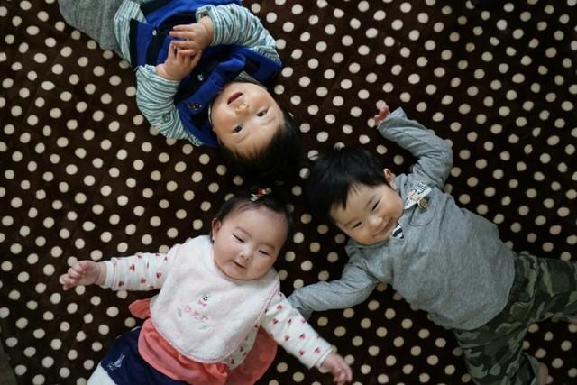 赤ちゃんたち,離乳食,ブロッコリー,