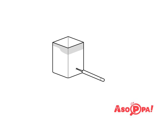 作り方(2)穴をあける,牛乳パック,工作,簡単