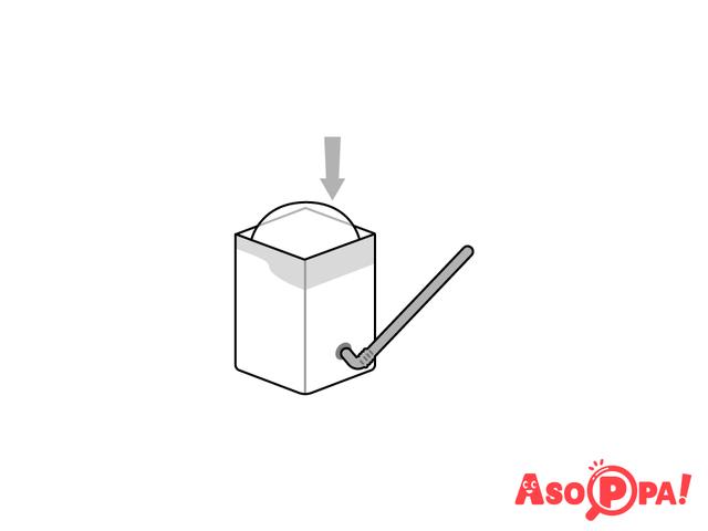 作り方(7)牛乳パックにセット,牛乳パック,工作,簡単