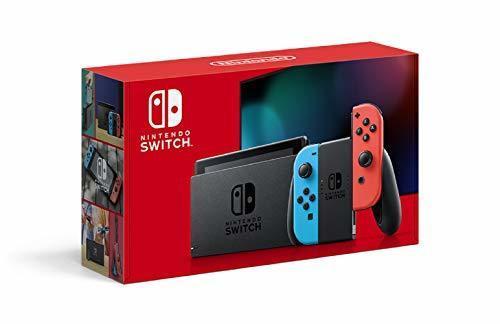 Nintendo Switch 本体 (ニンテンドースイッチ) Joy-Con(L) ネオンブルー/(R) ネオンレッド(バッテリー持続時間が長くなったモデル),クリスマスプレゼント,子ども,