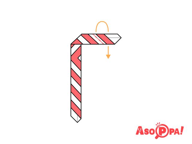 キャンディケイン,クリスマス,折り紙,