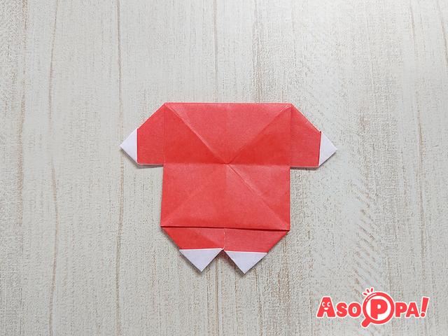 サンタクロースのからだ,クリスマス,折り紙,