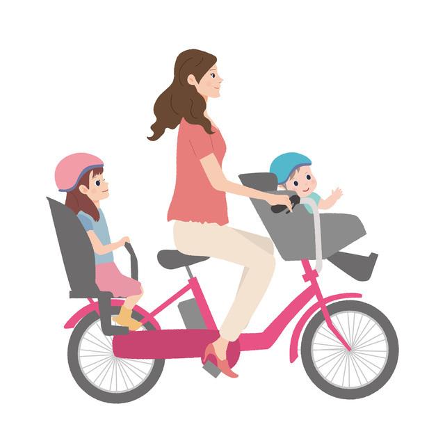 電動アシスト自転車に3人乗りする場合,電動自転車, 3人乗り,