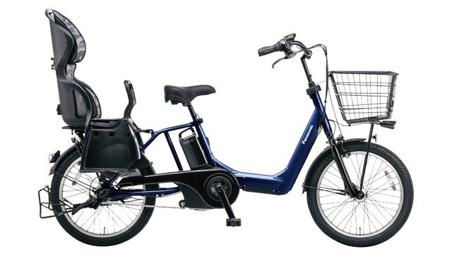 パナソニックのギュットアニーズ,電動自転車, 3人乗り,