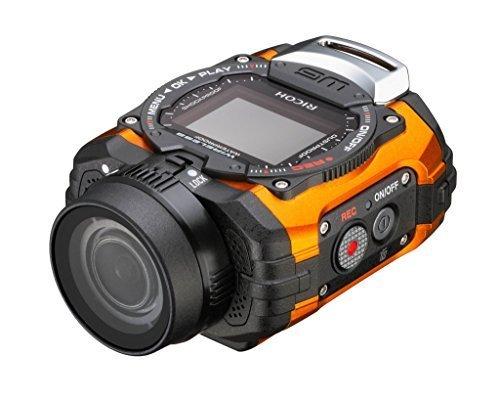 RICOH 防水アクションカメラ WG-M1 オレンジ WG-M1 OR 08286,デジタル,ビデオ,カメラ
