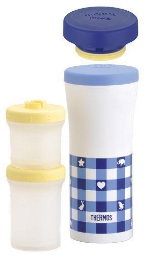 サーモス THERMOS 保冷離乳食ケース&ケータイマグ JBL-200 ブルーチェック(BC),離乳食,冷凍,容器