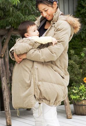 ママコートを着ているママ,ママコート,ダウン,人気