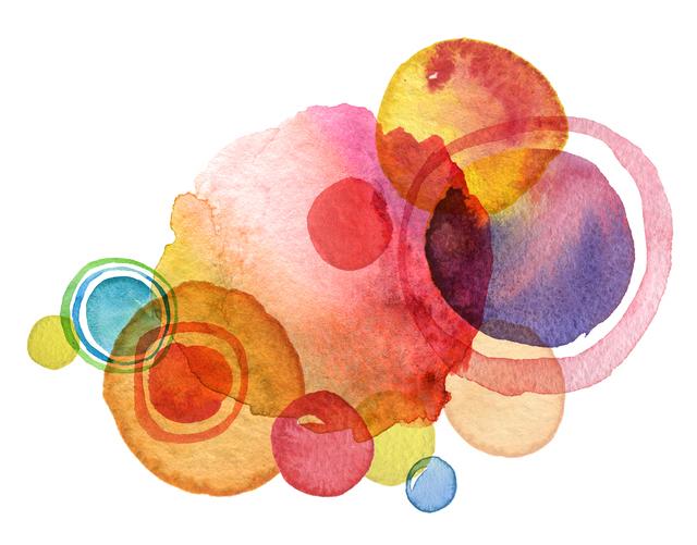 水彩画,透明,クレヨン,使い方