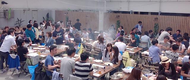 新宿Flags BBQ&ビアガーデン,バーベキュー,雨,東京