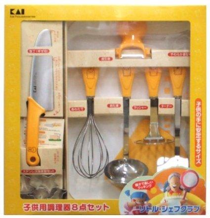 子供用の調理道具8点セット,子供用,調理器具,包丁