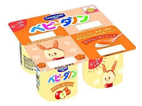 ダノン ベビーダノン すりりんご&にんじん (45g×4) 6パック入,1歳,誕生日ケーキ,