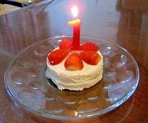 ヨーグルトとパンで簡単!1歳誕生日ケーキ,1歳,誕生日ケーキ,