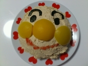 1歳誕生日に☆アンパンマンケーキ,1歳,誕生日ケーキ,